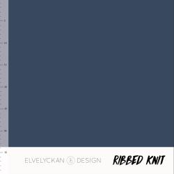 Ribbed Knit - Dark Blue (015)